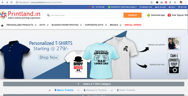 What is the best website to buy customized T-shirts in India? - Quora