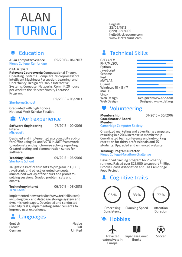 Phd computer science resume