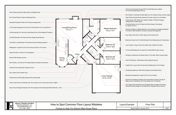 . What are some common mistakes made when designing a floor plan for a