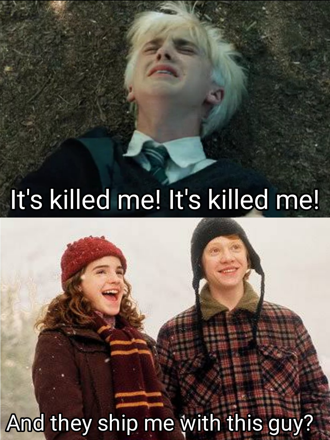 What would Ronald's life be like if Hermione and Draco (who are