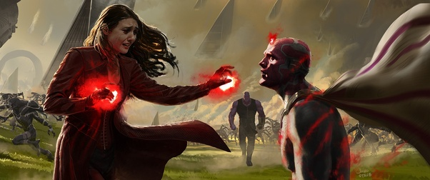 Is Wanda Maximoff (Scarlet Witch) stronger than Thanos? - Quora
