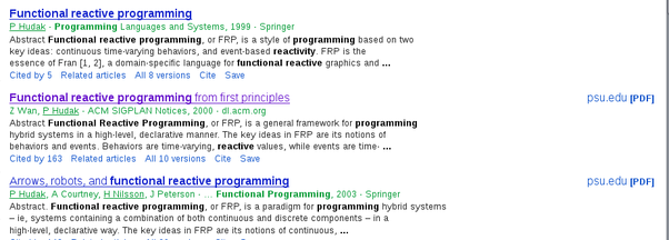 functional programming research papers Research research research home  research areas  the implementation of functional programming languages january 1, 1987 download pdf bibtex authors simon peyton jones publication type book book title the implementation of functional programming languages publisher prentice hall abstract related info abstract my 1987 book is now out.
