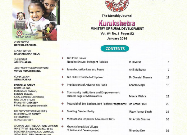 What are the top five magazines that every upsc civil services kurukshetra is a monthly journal published by the ministry of rural development government of india it solely deals with rural development fandeluxe Choice Image