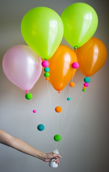 keep the balloons the same but add a little fun on the end - Some Decoration Ideas