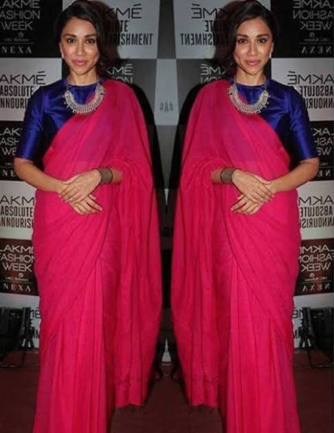 8a2ffdba92 Can you share examples of how to best match a saree with a blouse of ...