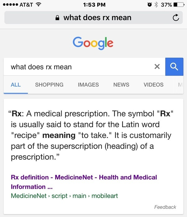 What Does The Symbol Rx In Medical Prescriptions And Pharmacy