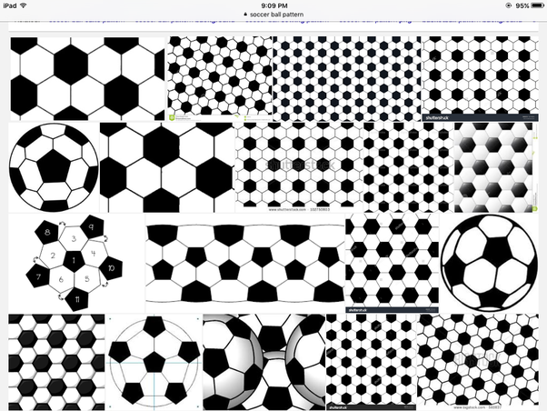 how to draw a soccer ball pattern quora