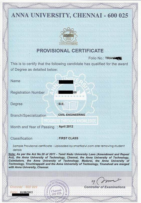 Is course completion certificate and provisional degree certificate so to summarise assuming the certificate is kosher cc does not list your grade pdc often does note for some institutions the certificates may vary yadclub