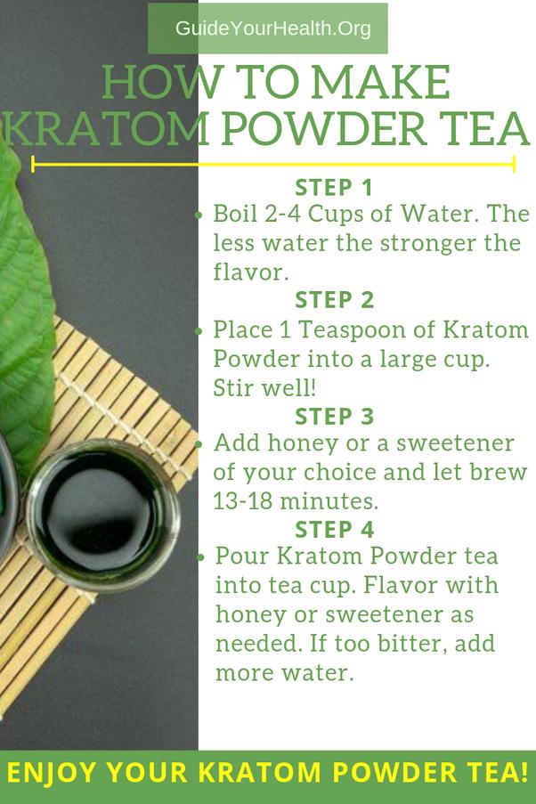 How To Make Kratom Tea Quora
