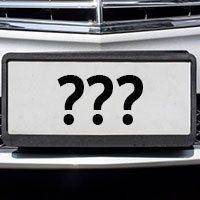 personalized Yosemite license plate