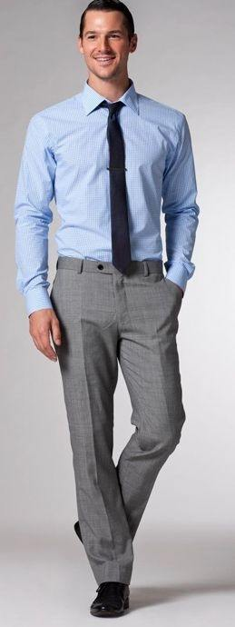What Tie Color Should Be Worn With Grey Pants And A Blue