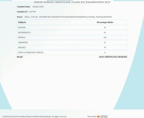 Has anyone scored a 100 in the ISC physics 2018 in All India