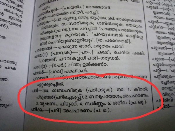 He had gone meaning in malayalam