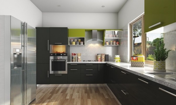 The most commonly used kitchen layout ideal for smaller homes  It makes efficient use of minimum floor space and gives you the advantage easily Who are best modular manufacturers in Hyderabad India