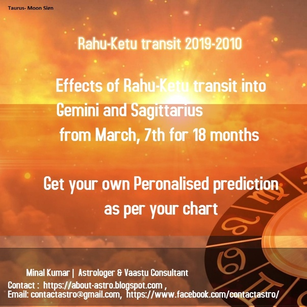How does the 2019 Rahu Ketu transit will affect the taurus