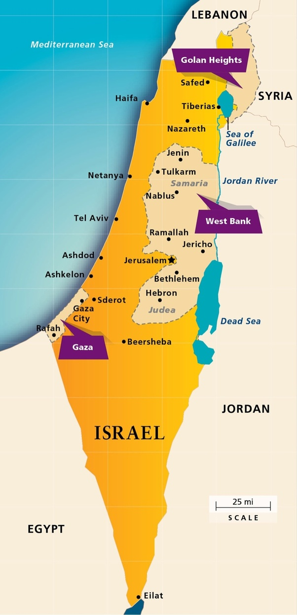 Image result for map of israel