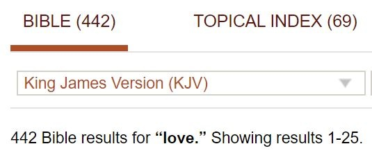 Out Of Curiosity I Just Checked And The Word Love Appears A Lot Of Times But Obviously Different In The Various Translations