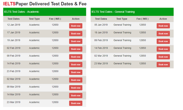 What is the IELTS test schedule of January 2019? - Quora