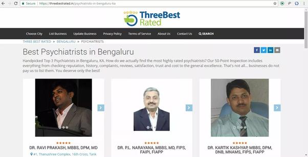 Is Dr  Ravi Prakash the best psychiatrist in Bangalore? - Quora
