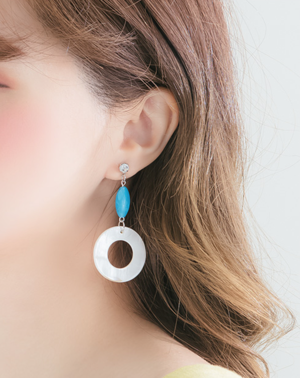 metal patterns yen hanatelier market or popular item en design global rakuten earrings simple store colors hoop