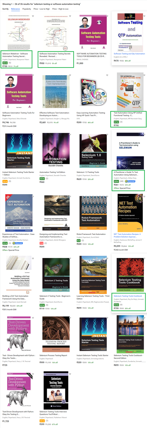 Which are the best book to learn selenium for learning ...