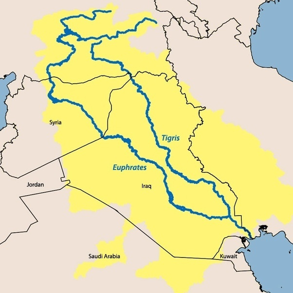 Why are there two names for the same river, Hiddekel and ...  Tigris River Map Simple
