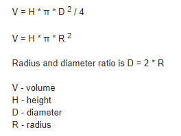 What is the formula to calculate the capacity of water tanks