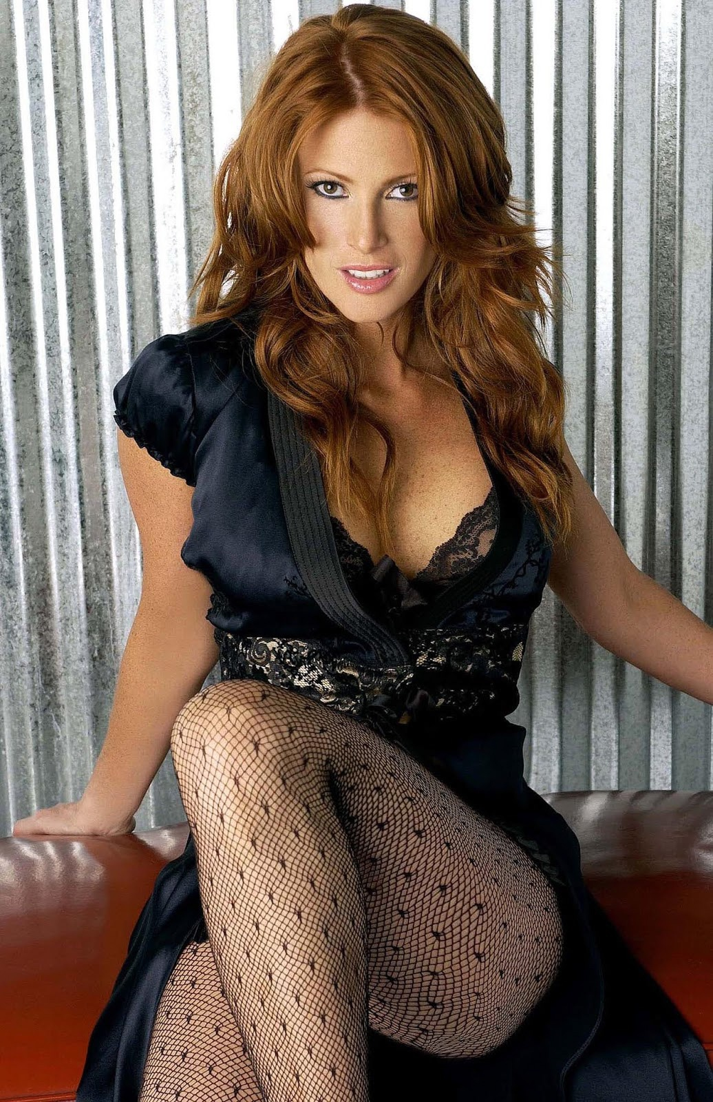 Angie Everhart Playboy what is the most elegant and fashion dress of american
