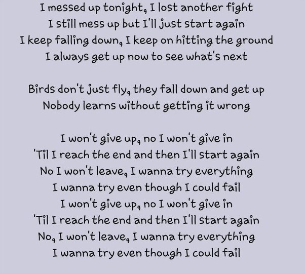 Lyrics to try again