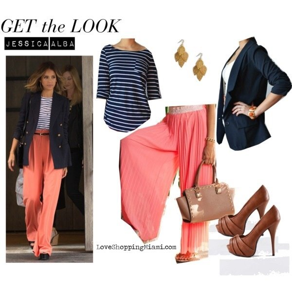 What Goes Well With A Coral Pink Palazzo Pant?