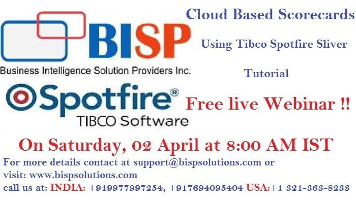 Which is the best institute for Tibco Spotfire online