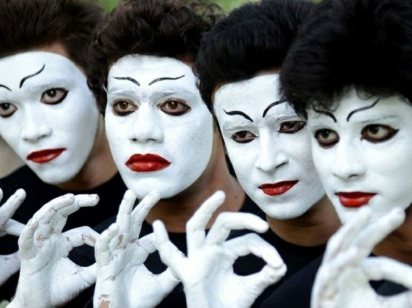 why do mime artists paint their faces quora