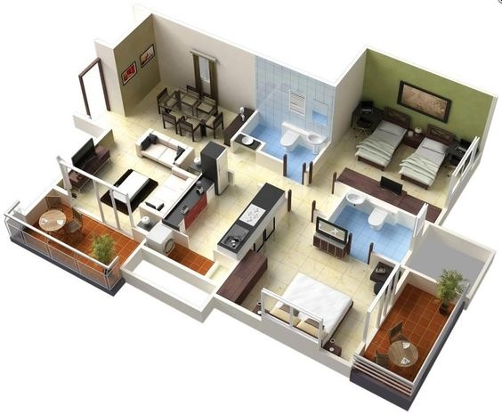 Which Are The Best Interior Design Ideas For A 2bhk Flat Quora
