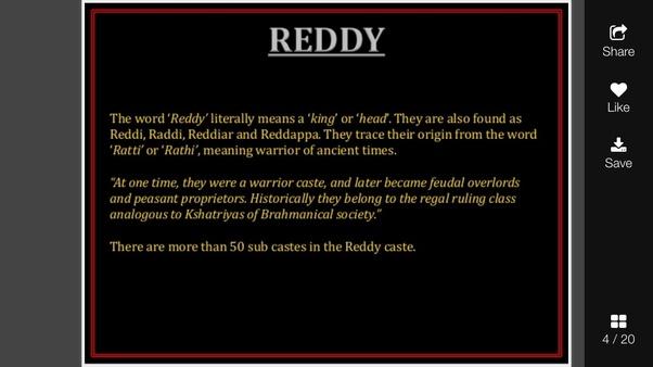 Does the Reddy community belong to shudras or Kshatriyas