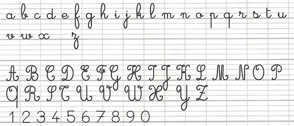 writing a letter in french is there any difference between the handwriting of 11135 | main qimg 8bf812ae94279ba16516693cba26a13a c