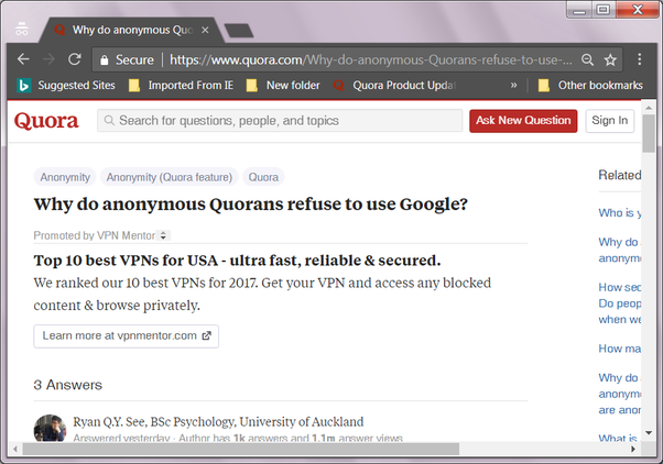 Why do anonymous Quorans refuse to use Google? - Quora