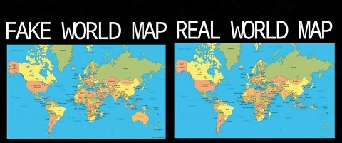 The Real World Map You Are Being Lied To.What S The Strangest Lie You Ve Seen Someone Tell On Social Media