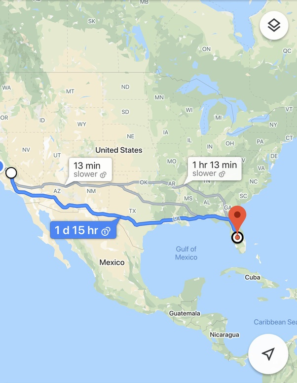 How long does it take to drive from California to Florida ...