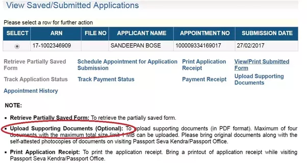 I submitted a passport application without uploading the documents check out the passport application page below it says optional spiritdancerdesigns Images
