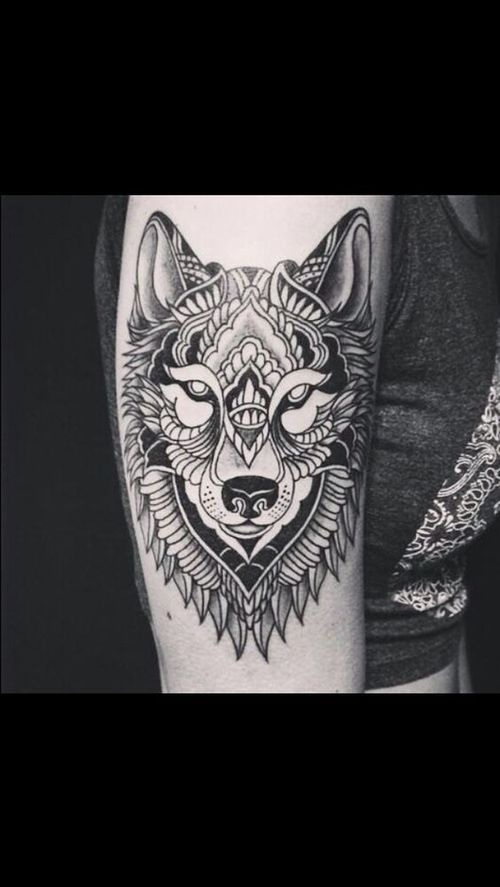 what are some wolf tattoo designs quora. Black Bedroom Furniture Sets. Home Design Ideas