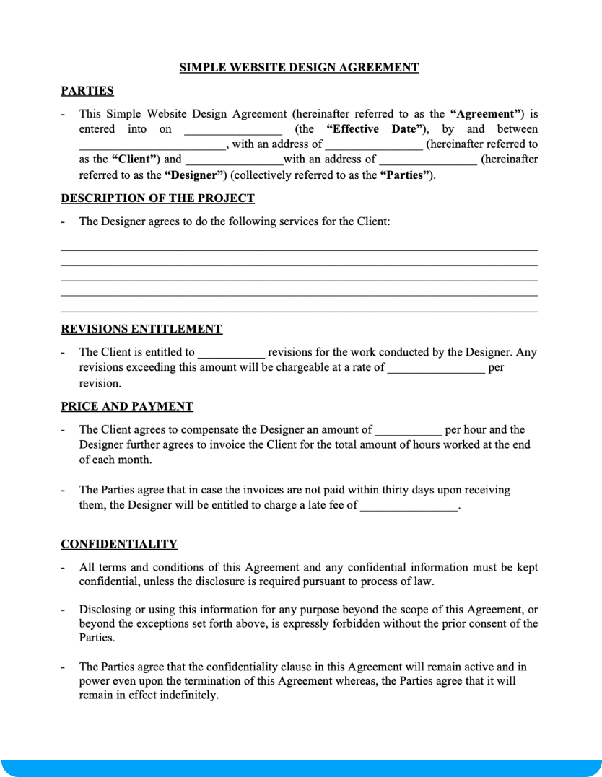 What Is A Good Template For A Software Dev Freelancer Contract Agreement In The Us Quora