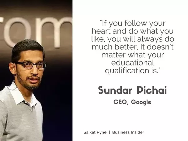what would the resume  cv of sundar pichai be like