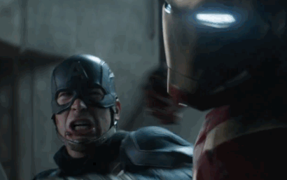 Why did Thanos make that face when Captain America was holding his