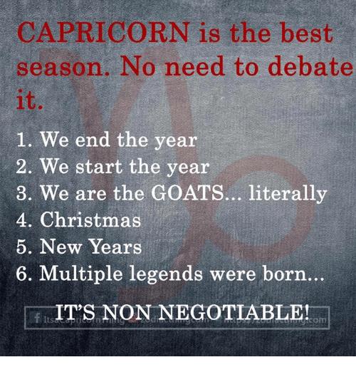 Start when does capricorn Capricorn Season