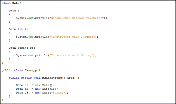 What is constructor overloading in Java? - Quora