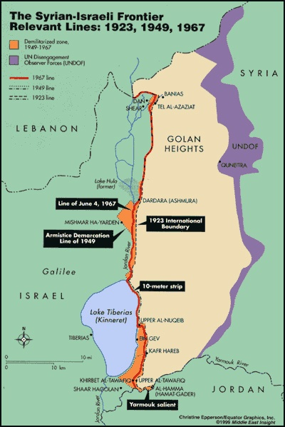 When will Israel return the occupied Golan Heights to Syria