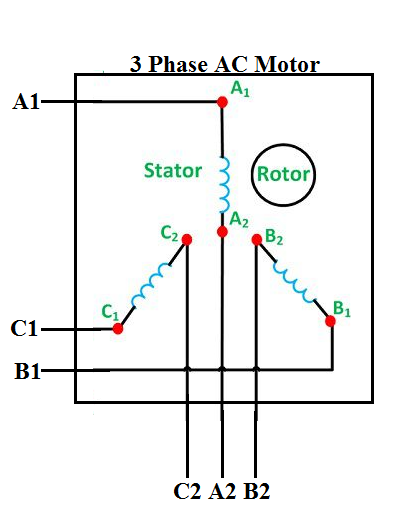 how to connect 3 phase motors in star and delta connection quora rh quora com three phase motor wiring schematic three phase motor wiring color code