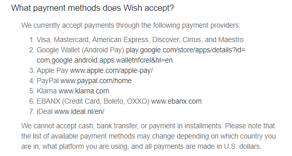 Stores That Accept Paypal Credit Online >> Why Is The Wish App Not Showing Paypal Quora