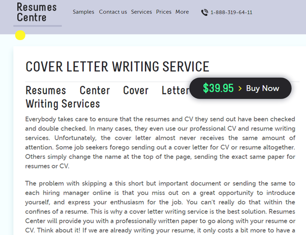 in case you dont know how and what to write in your cover letter you may ask for help resumes centre