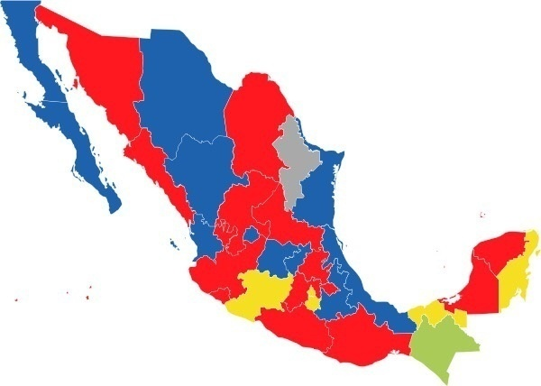 Does Mexico have liberal and conservative states like the US If